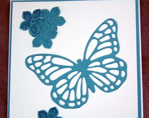 Sympathy/Sorry card handstamped; handmade So Sorry card; Stampin' Up! card; condolences card; butterfly card
