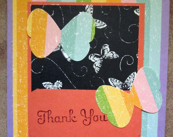 Handmade Thank You Card; Stampin' Up! thank you card; butterfly thank you card; butterflies card