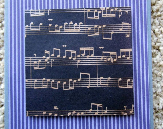 Blank Note Card; handmade Stampin' Up! greeting card; musical notes greeting card