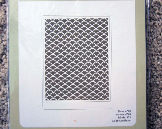 Stampin' Up! Fancy Fan Letterpress Plate / Dry Embossing Plate / Big Shot Letterpress Debossing Plate / Retired Stampin' Up!
