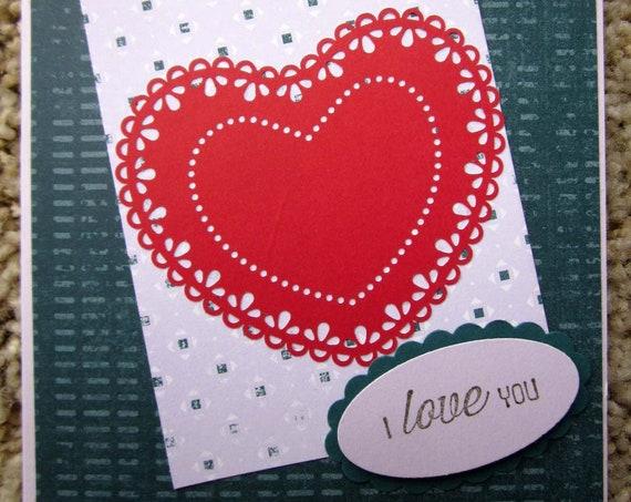 Handmade Valentine / Handmade Love Card / I Love You Card / Stampin' Up! Card / Valentine's Day Card