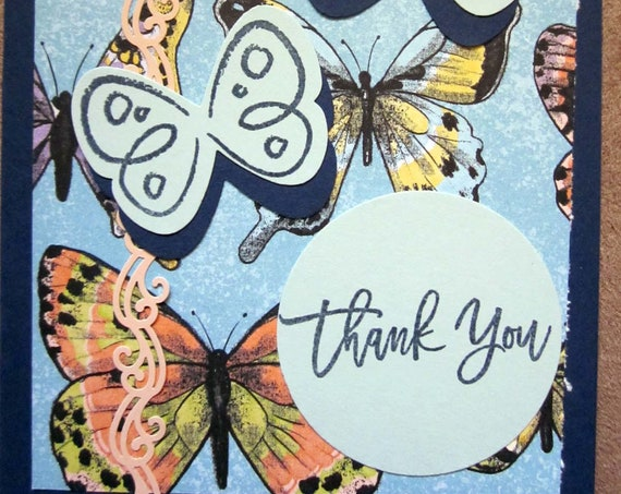 Handmade Thank You Card; Stampin' Up! thank you card; butterfly thank you card; butterflies thank you card