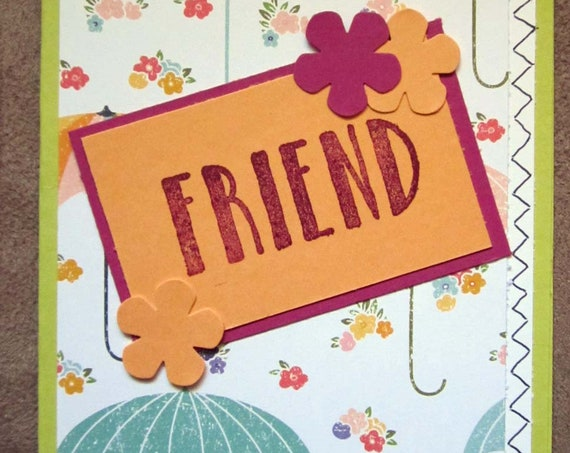 Friend card; handmade Stampin' Up! greeting card; friendship card; note card for friend; Stampin' Up! card