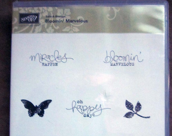 Stampin' Up! Bloomin' Marvelous clear mount stamp set; Stampin' Up! stamp set; clear mount stamps; flower stamp; butterfly stamp