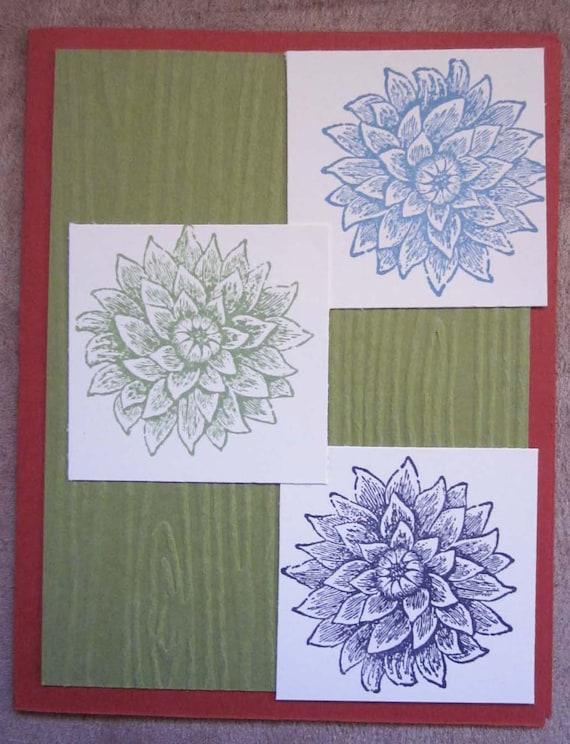 Get Well Soon card; handmade Get Well card; Stampin' Up! get well soon card; floral get well card