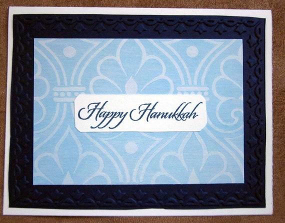 Set of 5 Happy Hanukkah cards; Jewish holiday cards