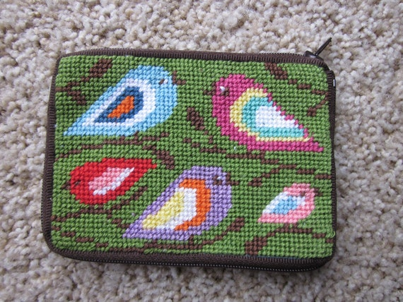 Woman's Wallet / Drivers License Holder / Coin Purse / Needlepoint Wallet / Wallet for Woman / Small Gift for Friend