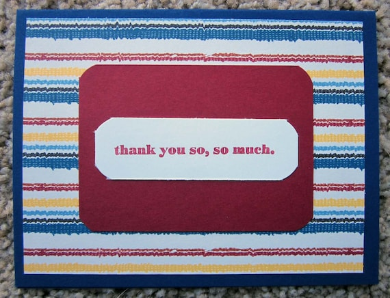 Handmade Thank You Card; Stampin' Up! Thank You Card; Thank You So, So Much Card