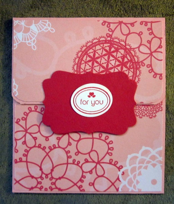 Handmade Gift Card Holder; Any Occasion Gift Card Holder; Birthday Gift Card Holder; Gift Card Holder for Woman; Stampin Up Gift Card Holder