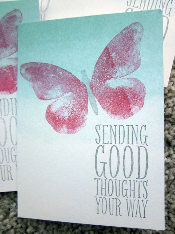 Set of 5 Blank Cards / Card Set / Stampin' Up! Card Set / Clean and Simple Card Set / Butterfly Cards / Sending Good Thoughts