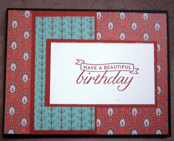 Happy Birthday card / handmade birthday card / feminine birthday / Stampin' Up! birthday card / blank birthday card / beautiful birthday