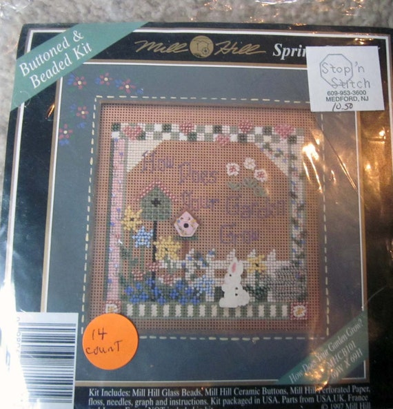Counted Cross Stitch Kit - How Does Your Garden Grow / needlework project for gardener / gift for gardener
