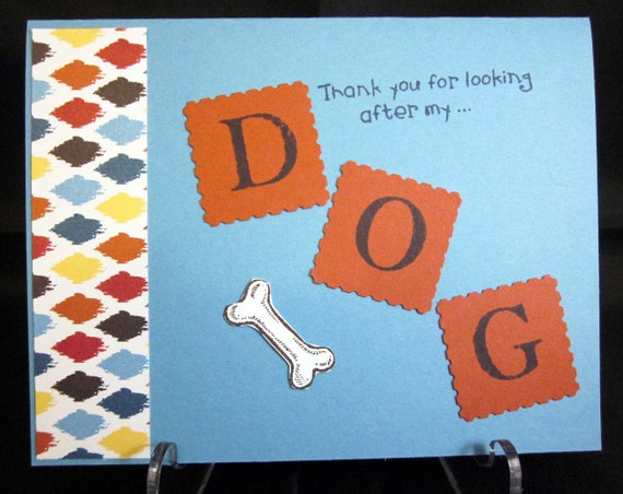 Handmade Thank You Card for Dog Sitter
