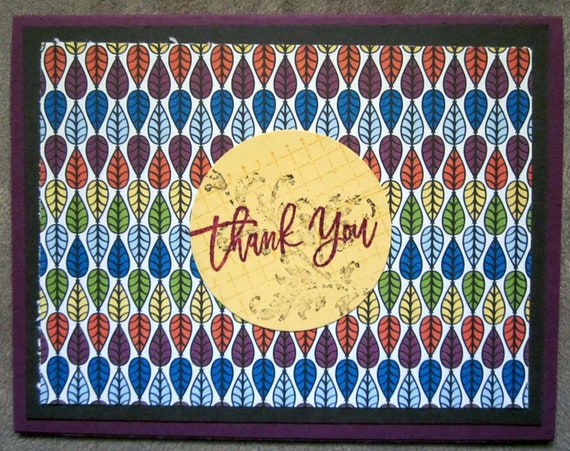 Handmade Thank You Card; colorful thank you card; Stampin' Up! thank you card; say thanks
