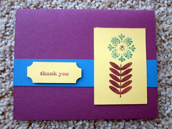 Handmade Thank You Card; Stampin' Up! Thank You Card; Thank You Card with Flower