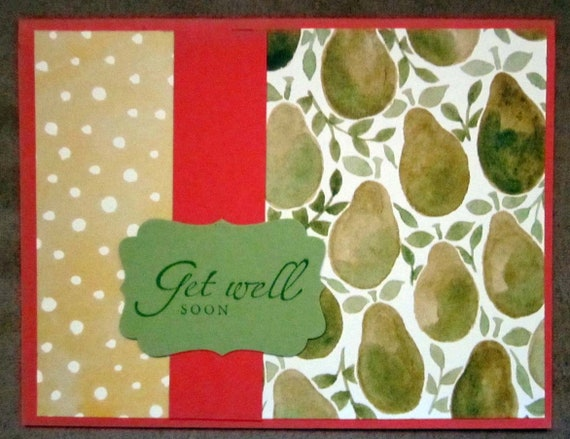 Get Well Soon card; handmade Get Well card; Stampin' Up! get well soon card