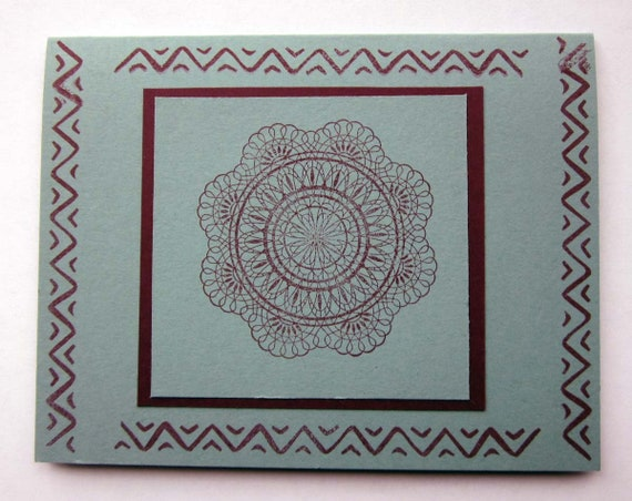 Blank Note Card; handmade Stampin' Up! greeting card; geometric patterned card; blank greeting card; clean and simple card
