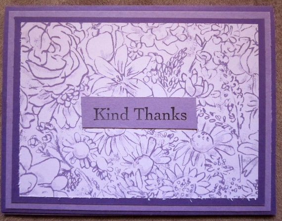 Handmade Thank You Card; Stampin' Up! thank you card; kind thanks; delicate flowers thank you card