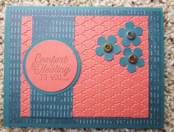 Handmade Get Well Card / Stampin Up card / Thinking of You Card / Comfort and Healing Card / Sympathy Card