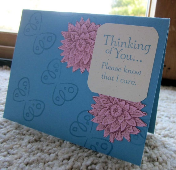 Handmade Thinking of You Card.  Suitable for everyday or get well; handmade Stampin' Up! thinking of you card; care card