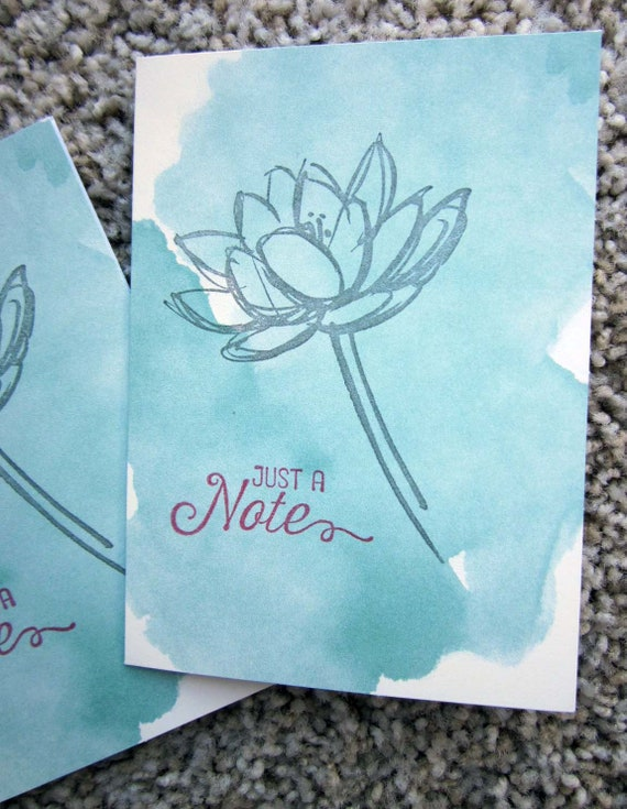 Set of 4 Blank Cards / Card Set / Stampin' Up! Card Set / Just a Note card set / Clean and Simple Card Set