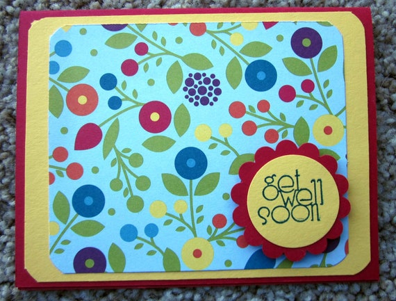Get Well Soon card; handmade Get Well card; Stampin' Up! get well soon card; clean and simple get well card