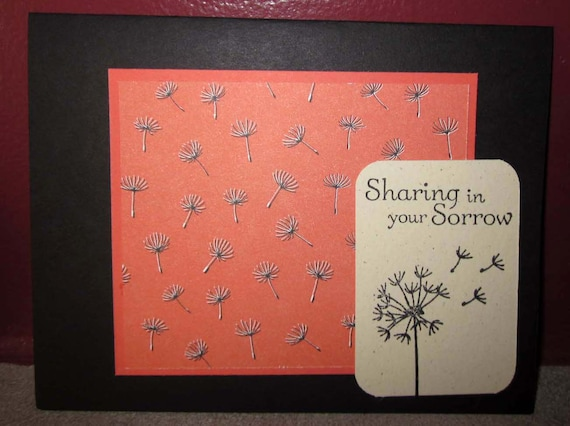 Sympathy card featuring dandelion; Sharing in Your Sorrow card; Stampin' Up! sympathy card; handmade sympathy card