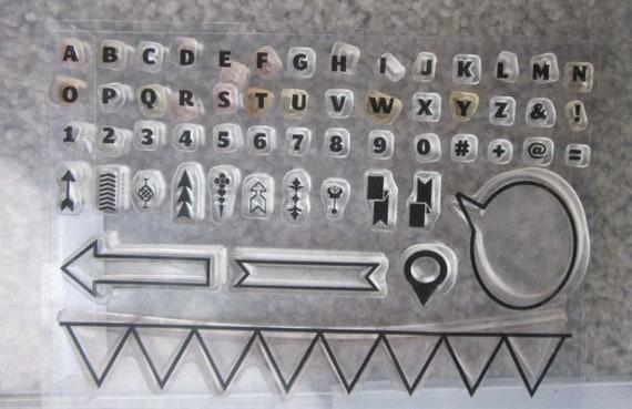 Stampin' Up! Designer Typeset Photopolymer Stamp Set / Alphabet Stamps / Banner Stamps