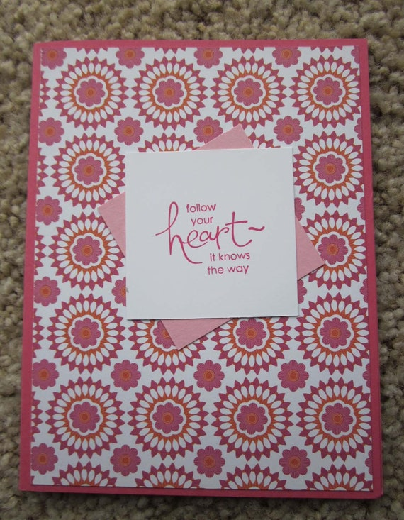 Encouragement Card / New Ventures Card / Inspirational Card / Stampin' Up! card / Follow Your Heart card / Encouragement Card for Woman