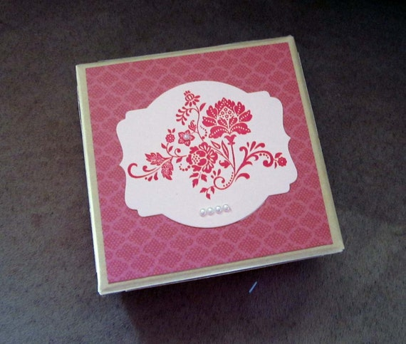 Decorated Gift Box in Pink for Fun Present  or even Keepsake Storage; archival storage box; Pink Gift Box; Gift Box for girl; romantic gift