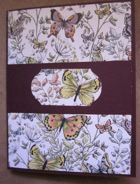 Butterfly card; handmade greeting card featuring butterflies; Stampin' Up! greeting card; card for butterfly lovers