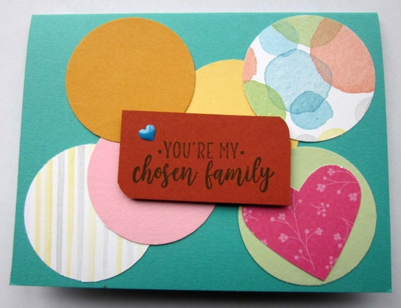 Friendship card; handmade Stampin' Up! greeting card; chosen family card; blank greeting card; card for close friend