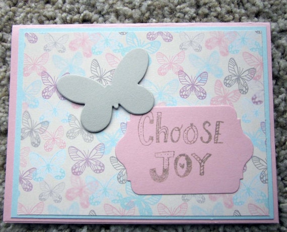 Inspirational Greeting Card / Choose Joy card / Joy card / blank inspirational card / handmade inspirational greeting card / encouragement