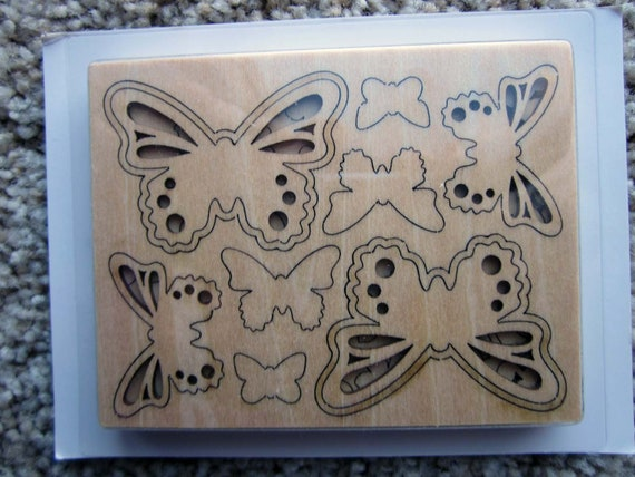 Retired Stampin' Up! Butterfly Elements / Wooden Butterflies / Wooden Crafting Butterflies / Stampin' Up! Butterfly Embellishments