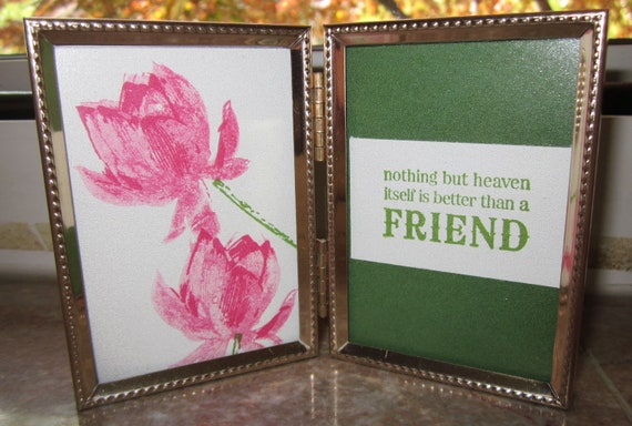 Friendship Gift; gift for friend; nothing but heaven.....friend quote; small gift for friend; small gift for woman friend