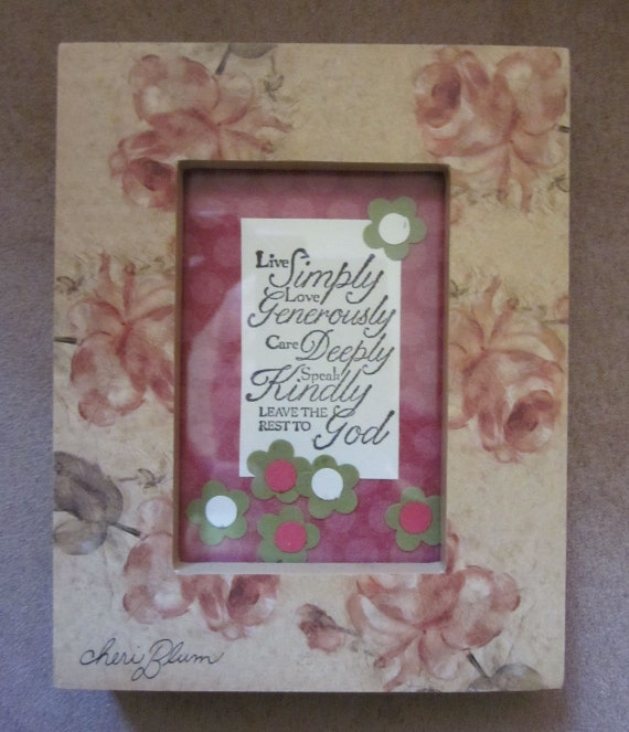 Inspirational framed saying; leave the rest of God quote; inspirational gift; gift for friend; small inspirational gift