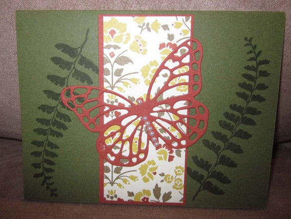Sympathy card featuring die cut butterfly; Stampin' Up! sympathy card; Sorry Card; floral and butterfly sorry card; condolences card