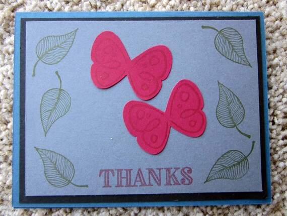 Handmade Thank You Card; Thanks card; Stampin' Up! Thank You Card; Thank You Card with Butterflies