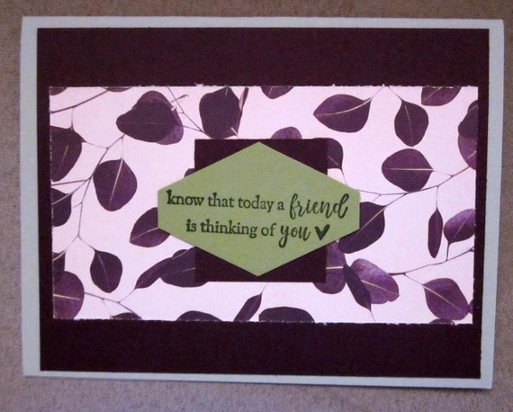 Handmade Thinking of You Card; Stampin' Up! thinking of you card; friend is thinking of you; get well card; concern card