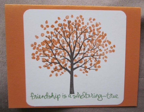 Handmade Friendship Card; Friendship is a Sheltering Tree card; Stampin' Up! friendship card; best friend card; thinking of you card