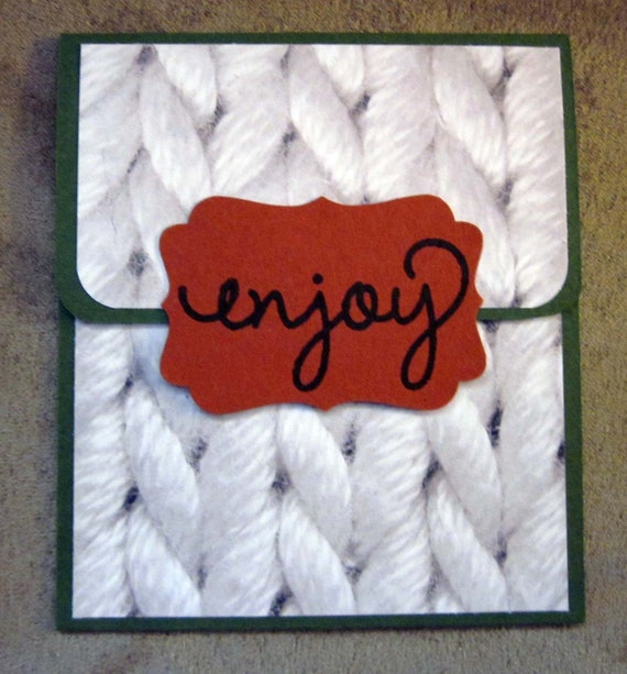 Handmade Gift Card Holder; Gift Card Holder for Any Occasion; Enjoy Gift Card Holder; Stampin Up Gift Card Holder