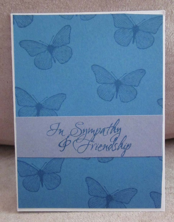 Handstamped Sympathy Card with butterflies; Stampin' Up! sympathy card; sympathy card for friend