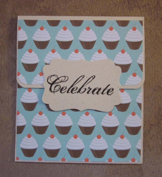 Handmade Gift Card Holder; Any Occasion Gift Card Holder; Birthday Gift Card Holder;  Cupcake Gift Card Holder; Stampin' Up Gift Card Holder