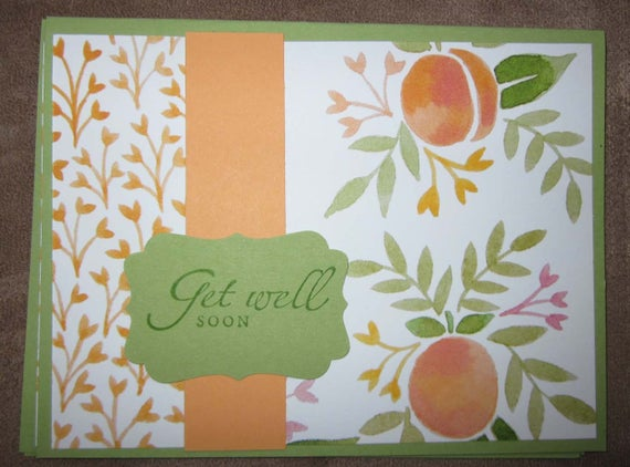 Set of three handmade Get Well Soon Cards; Stampin' Up! Get Well Card; card sets get well