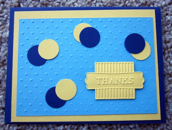 Handmade Thank You Card; Thanks card; Stampin' Up! Thank You Card