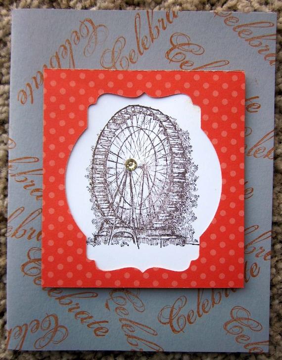 Handmade Celebrate Card; Stampin' Up! Celebrate Card; Ferris Wheel Celebrate Card