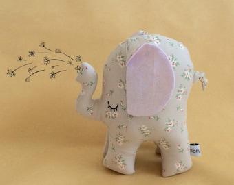 Elephant soft toy, Made in Australia, handmade, elephant toy, baby girl gift, girls room decor, newborn gift, nursery decor, plushie