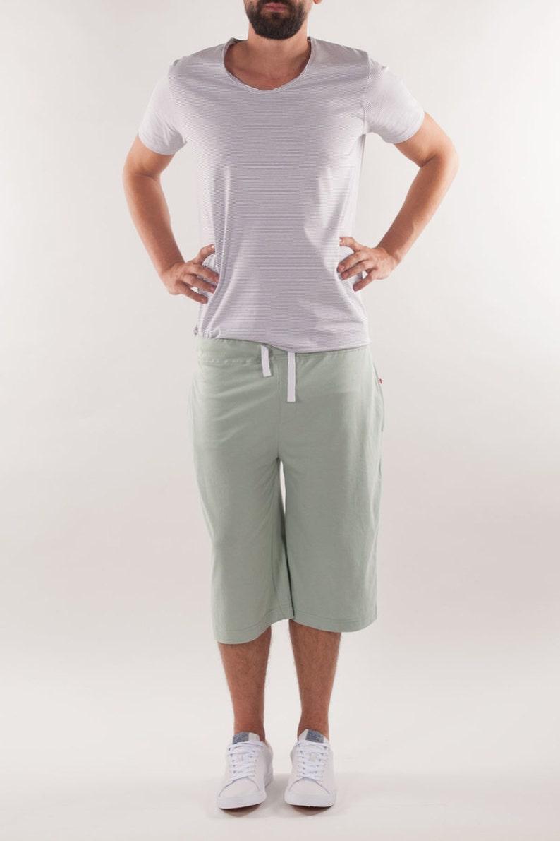 purchase authentic double coupon best cheap Organic Cotton Men's Pyjama Shorts: Sage Green