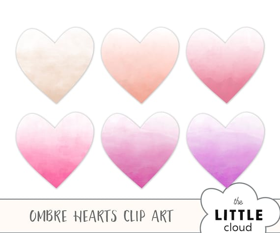 Valentines Clip Art Watercolor Hearts Clipart Valentines Day Card Design Elements Watercolor Floral Clipart Pink Watercolor Brush Stroke