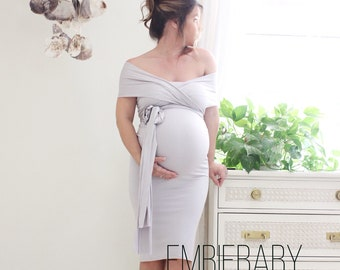 867ba7a0ed1bb Maternity dress fitted short baby shower dress- The Bodycon Wrap